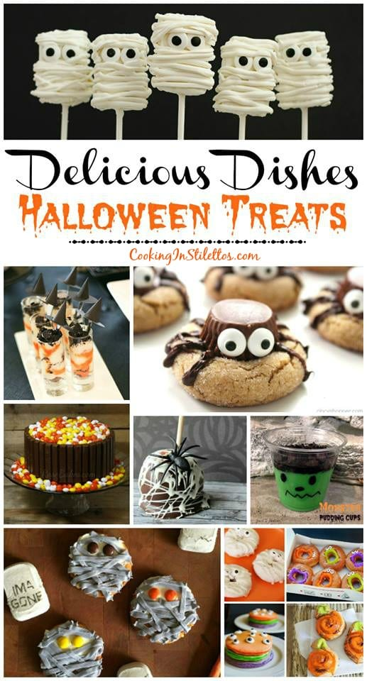 A delicious collection from CookingInStilettos.com spotlighting our favorite Halloween Treats and our Delicious Dishes Recipe Party! Visit & share your favorite Halloween recipes!