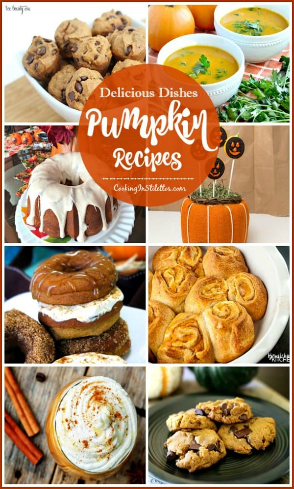 A delicious collection of cupcake recipes from CookingInStilettos.com spotlighting even more delicious pumpkin recipes! Come share your favorite recipe with us!