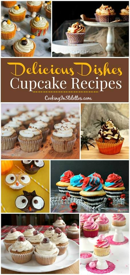 A delicious collection of cupcake recipes from CookingInStilettos.com spotlighting fun and festive cupcakes perfect for parties, holidays & more! Come share your favorite recipe with us!