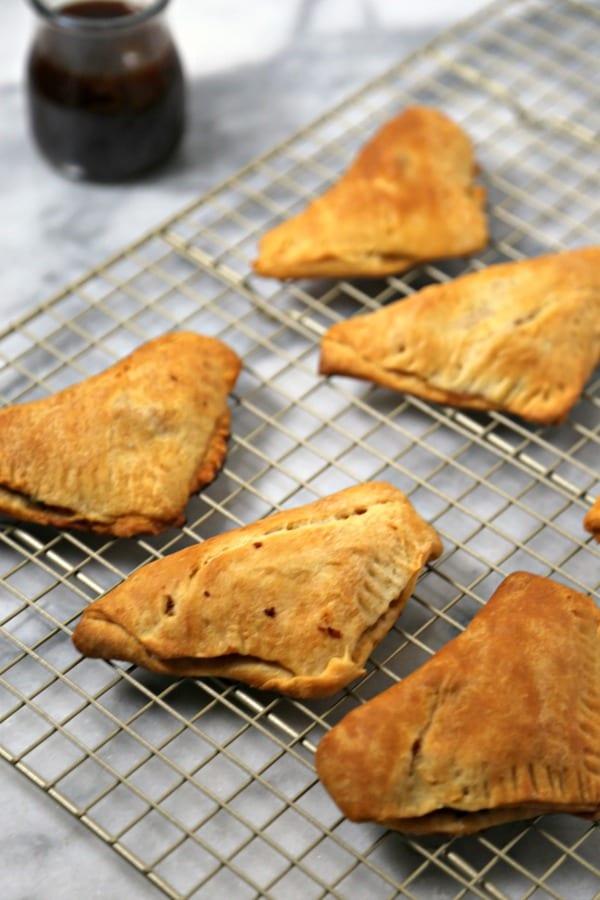 Kalua Pork Bites with Homemade Pineapple Teriyaki Sauce - Kalua Pork Pocket Sammies | CookingInStilettos.com