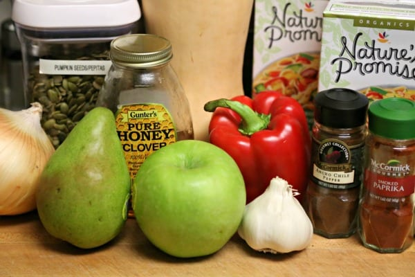 Spicy Harvest Butternut Squash Soup - Ingredients | CookingInStilettos.com