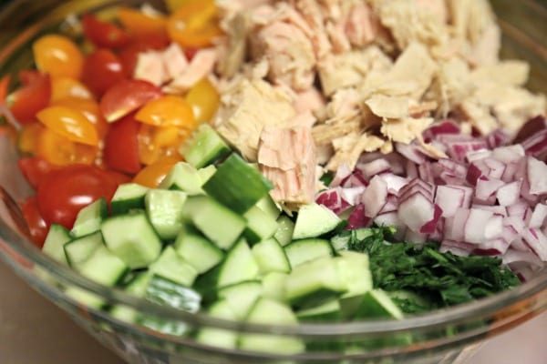 Tuna and White Bean Salad- Ready to Mix | CookingInStilettos.com