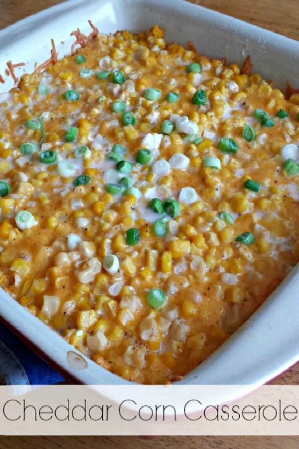 Delicious Dishes Recipe Party - Thanksgiving Recipes- Cheddar Corn Casserole from Clever Housewife   CookingInStilettos.com