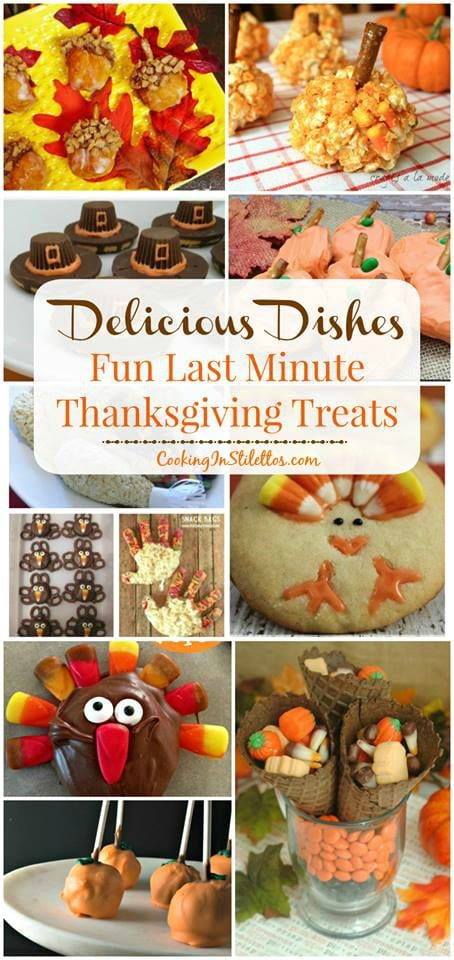 A delicious collection from CookingInStilettos.com spotlighting fun last minute Thanksgiving treats. Share your favorite recipes at our Delicious Dishes Recipe Party - one of the best recipe link parties!
