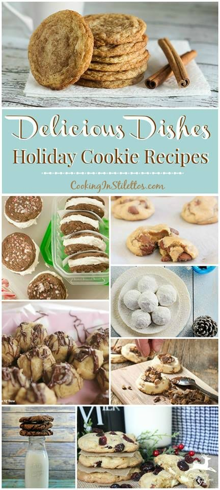 A delicious collection from CookingInStilettos.com spotlighting the best holiday cookie recipes. Share your favorite recipes at our Delicious Dishes Recipe Party - one of the best recipe link parties!