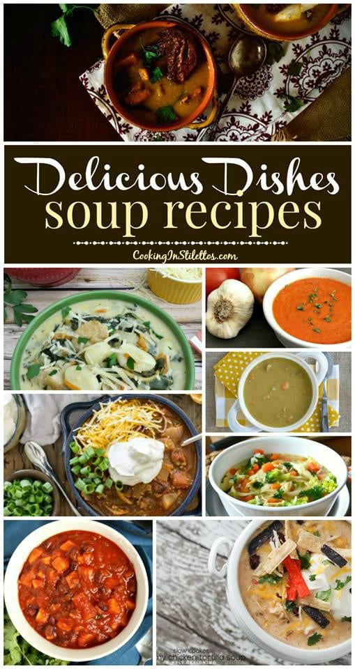 A delicious collection of recipes from CookingInStilettos.com spotlighting warm and comforting soup recipes! Come share your favorite recipe with us!