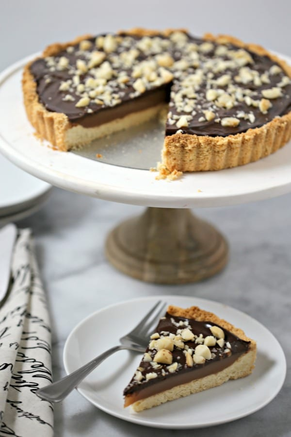 ... chocolate caramel tart with macadamia nut crust aly m cleary tart