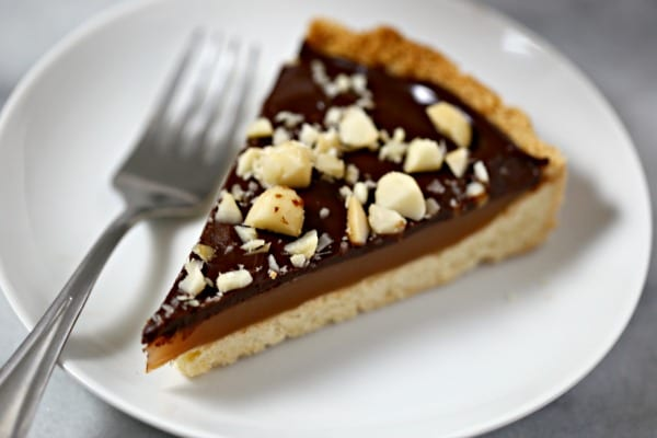 free chocolate caramel tart with macadamia nut crust aly m cleary tart ...