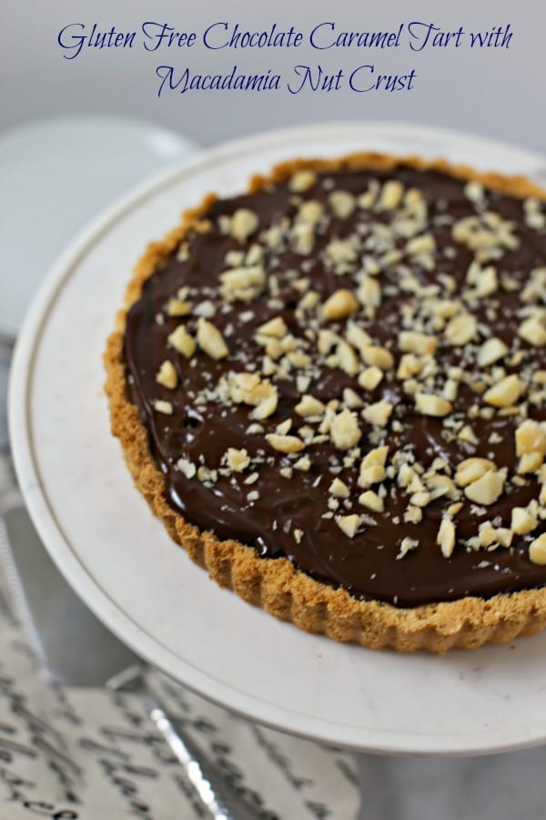 This holiday season, make this rich and decadent Gluten-Free Chocolate Caramel Tart with Macadamia Nut Crust from CookingInStilettos.com. The flavors will take you back to childhood with layers of gooey caramel and dark chocolate nestled in a buttery macadamia nut crust but with a sophisticated twist. This dessert recipe will be a family favorite!