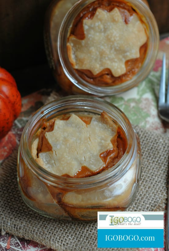Delicious Dishes Recipe Party - Pie Recipes- Pumpkin Pie in a Jar | CookingInStilettos.com