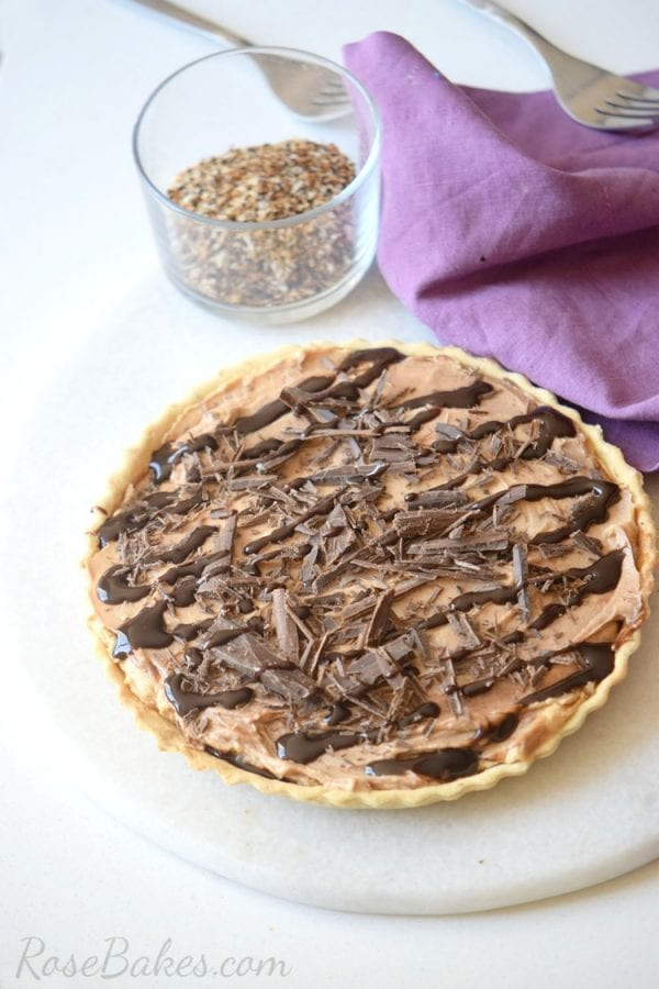 Delicious Dishes Recipe Party - Pie Recipes- Peanut Butter Chocolate Pie from Rose Bakes | CookingInStilettos.com