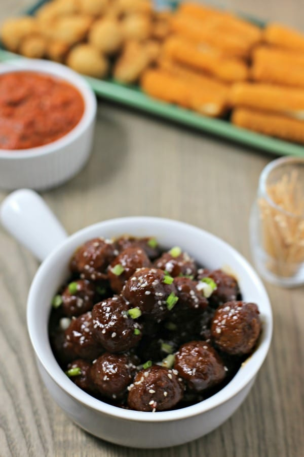Slow Cooker Hawaiian Meatballs from CookingInStilettos.com are spicy, sweet and packed with flavor. With just a few pantry ingredients and Farm Rich Meatballs straight from the freezer and you can make these scrumptious meatballs in a flash. It's entertaining made easy!