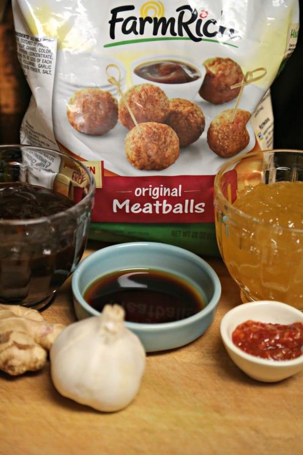 Slow Cooker Hawaiian Meatballs- Ingredients | CookingInStilettos.com