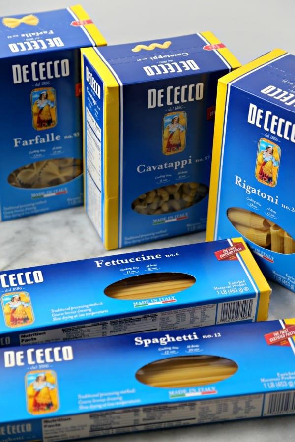 Three Cheese Baked Mushroom Pasta - De Cecco Pasta | CookingInStilettos.com