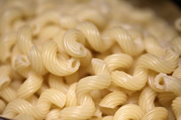 Three Cheese Baked Mushroom Pasta - Cavatappi Pasta | CookingInStilettos.com