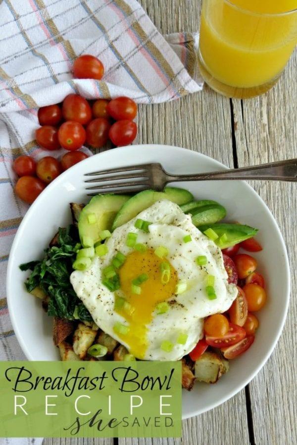 Delicious Dishes Recipe Party - Christmas Breakfast Recipes - Avocado Egg Potato Breakfast Bowl | CookingInStilettos.com