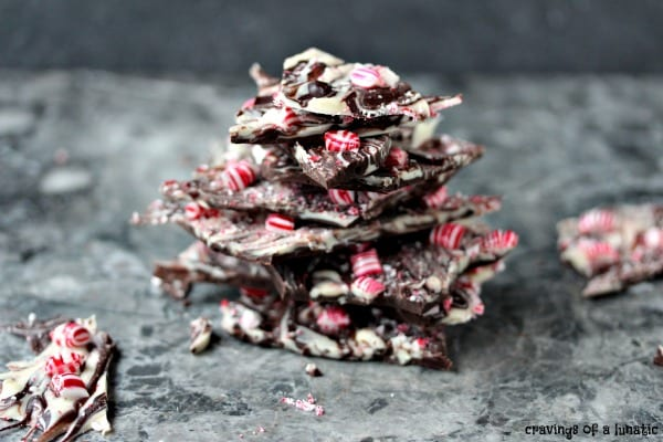 Delicious Dishes Recipe Party - Peppermint Recipes - Chocolate Peppermint Bark from Cravings of a Lunatic | CookingInStilettos.com