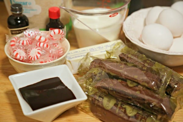 Chocolate Swirled Peppermint Crunch Semifreddo - Ingredients | CookingInStilettos.com