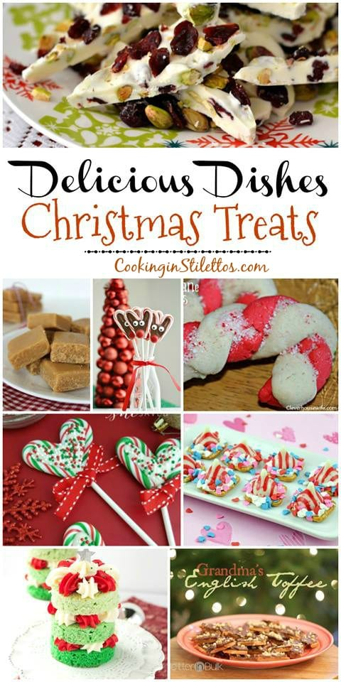 A delicious collection from CookingInStilettos.com spotlighting last minute Christmas Treats, perfect for the holidays! Share your favorite recipes at our Delicious Dishes Recipe Party - one of the best recipe link parties!