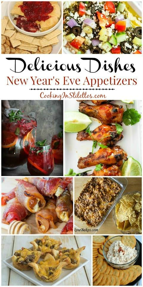 A delicious collection from CookingInStilettos.com of New Year's Eve Appetizers and Cocktails! Share your favorite recipes at our Delicious Dishes Recipe Party - one of the best recipe link parties!