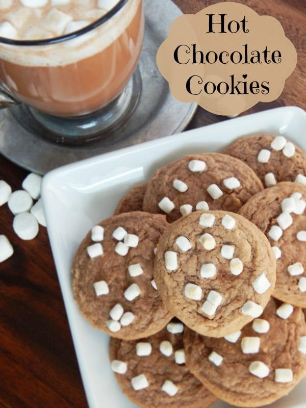 Delicious Dishes Recipe Party - New Year's Eve Appetizers - Hot Chocolate Cookies from Ann's Entitled Life | CookingInStilettos.com