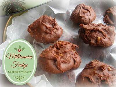 Delicious Dishes Recipe Party - Peppermint Recipes - Millionaire Fudge from Cooking with K | CookingInStilettos.com