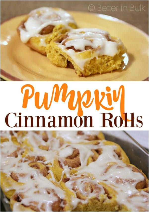 Delicious Dishes Recipe Party - Christmas Breakfast Recipes - Pumpkin Cinnamon Rolls with Cream Cheese Frosting - Food Fun Family | CookingInStilettos.com