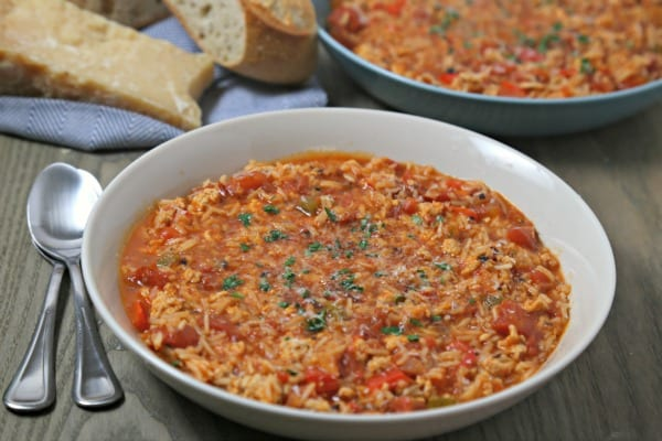 Stuffed Pepper Soup from CookingInStilettos.com will be your go-to winter favorite with the flavors of a classic stuffed pepper in a warm, comforting bowl of soup! This easy soup recipe is perfect for those one-pot meals and couldn't be easier to prepare with just a few pantry ingredients.
