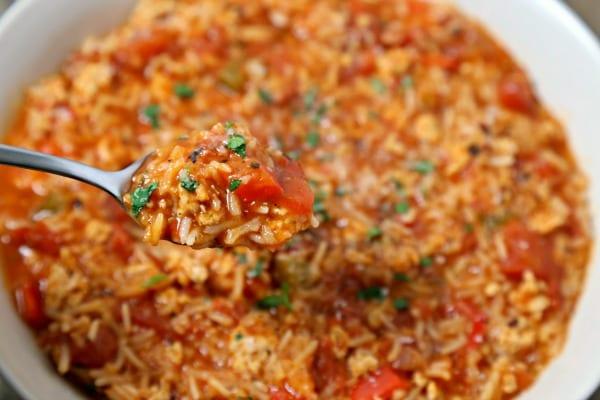 Stuffed Pepper Soup | CookingInStilettos.com