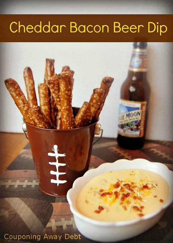 Delicious Dishes Recipe Party - Game Day Recipes - Cheddar Bacon Beer Dip from More Than a Mom of Three | CookingInStilettos.com