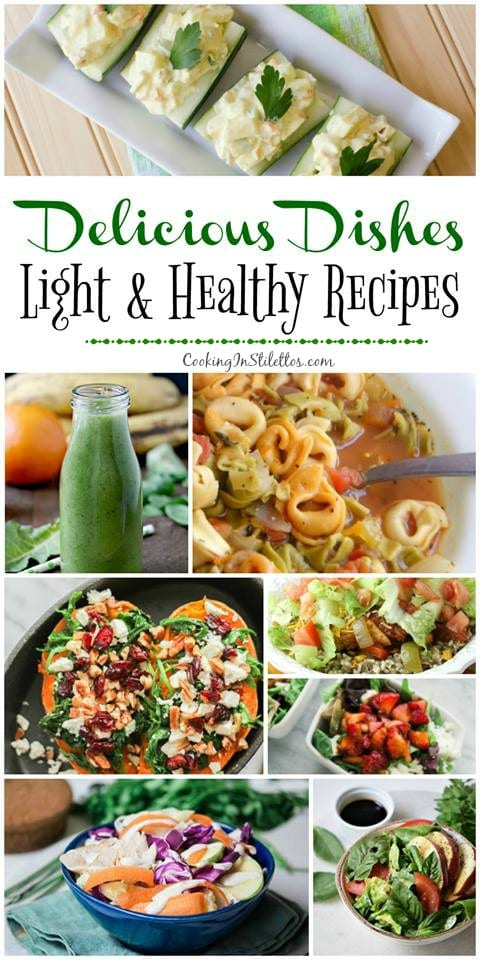 Light and Healthy Recipes are the focus of this Delicious Dishes Recipe Party at CookingInStilettos.com.  This healthy recipe collection is a must have for menu plans!