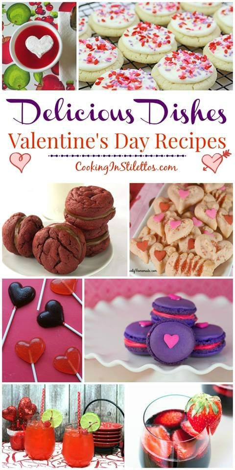 Sweets for your sweet with the best Valentine's Day Recipes at the Delicious Dishes Recipe Party on CookingInStilettos.com | Valentine's Day | Sweet Treats | Desserts | Hearts