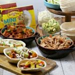 Kalua Pork Tacos with Pineapple Mango Salsa and A DIY Taco Bar #OEPBigGame