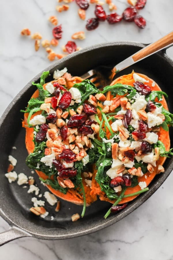 Delicious Dishes Recipe Party - Light and Healthy Recipes - Healthy Loaded Sweet Potatoes | CookingInStilettos.com