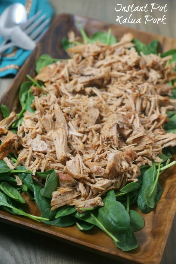 Instant Pot Kalua Pork from CookingInStilettos.com is packed with flavor and ready in no time thanks to the Instant Pot. This easy Kalua Pork recipe will be perfect for game day! Instant Pot | Hawaiian Pork | Game Day | Tailgate