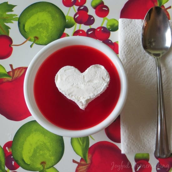 Delicious Dishes Recipe Party - Valentine's Day Recipes - Jello Cool Whip Heart from Joyful Homemaking | CookingInStilettos.com