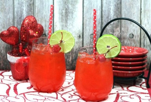 Delicious Dishes Recipe Party - Valentine's Day Recipes - Love Bug Valentine's Day Punch from Our Family World | CookingInStilettos.com