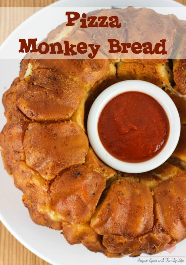 Delicious Dishes Recipe Party - Game Day Recipes - Pizza Monkey Bread from Sugar Spice and Family Life | CookingInStilettos.com