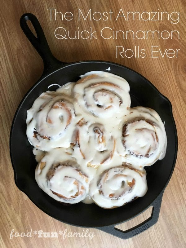 Delicious Dishes Recipe Party - Our Favorite Recipes of 2016 - Hot Spinach and Artichoke Dip from She Saved - The Most Amazing Quick Cinnamon Rolls Ever from Food Fun Family | CookingInStilettos.com