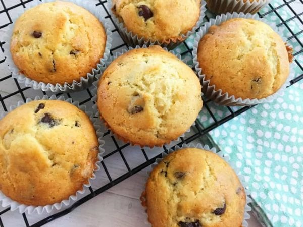 Delicious Dishes Recipe Party - Breakfast Recipes - Chocolate Chip Muffins from Life With Heidi | CookingInStilettos.com