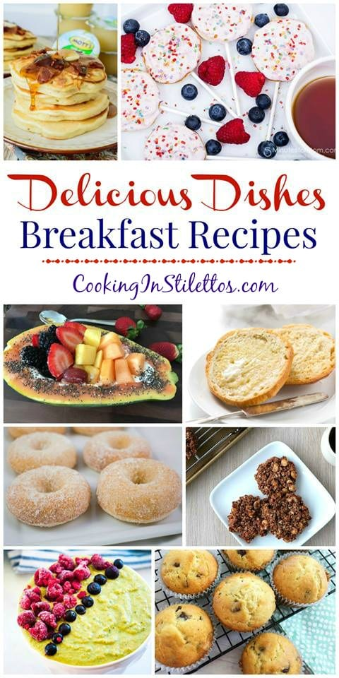 Start your day with some of the best breakfast recipes on the internet and share your favorite recipes with the Delicious Dishes Recipe Party from CookingInStilettos.com!  Breakfast | Brunch | Easy Recipe | Smoothies