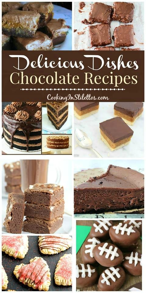 Surprise your love this Valentine's Day with one of these deliciously decadent chocolate recipes at the Delicious Dishes Recipe Party on CookingInStilettos.com | Valentine's Day | Chocolate | Desserts