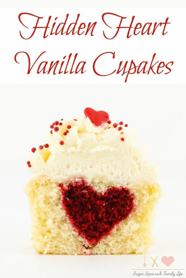 Delicious Dishes Recipe Party - Breakfast Recipes - Hidden Heart Vanilla Cupcakes from Sugar, Spice and Family Life | CookingInStilettos.com