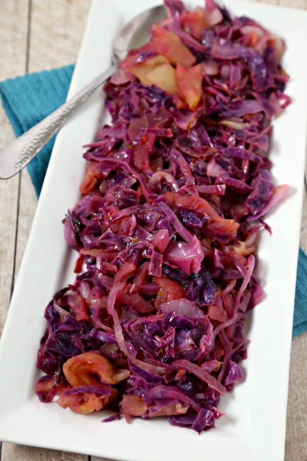 This St. Patrick's Day, whip up this easy Braised Sweet and Sour Cabbage from CookingInStilettos.com. Just a few ingredients for the perfect side dish that is delicious hot or cold! Cabbage | Healthy | Side Dish | Irish