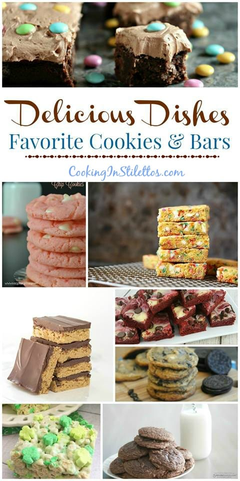 For your favorite cookie monster, here are our favorite cookies and bars recipes from the Delicious Dishes Recipe Party from CookingInStilettos.com! Cookies | Bars | Desserts | Sweet Treats