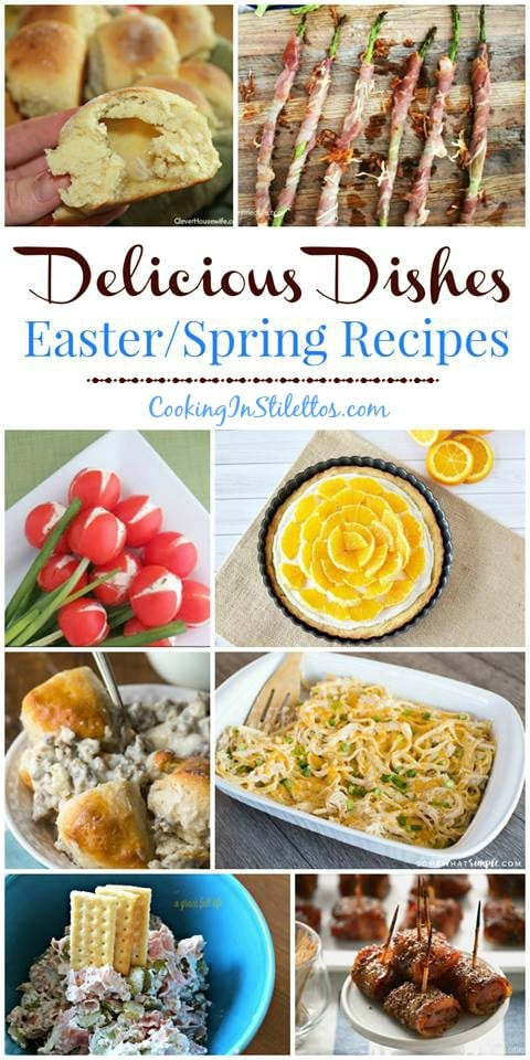 For the best Easter and Spring Recipes, check out the Delicious Dishes Recipe Party on CookingInStilettos.com and share your favorites! Easter Recipe | Spring Recipe | Brunch Recipe | Appetizers | Easter Desserts