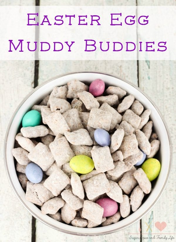 Delicious Dishes Recipe Party - Easter Desserts - Easter Egg Muddy Buddys from Sugar Spcie and Family Life | CookingInStilettos.com