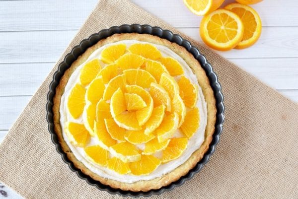 Delicious Dishes Recipe Party - Easter and Spring Recipes - Orange Clove Tart from The Rebel Chick | CookingInStilettos.com