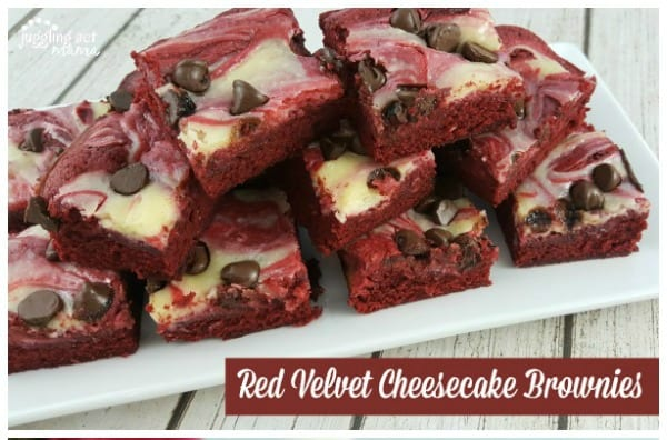 Delicious Dishes Recipe Party - Favorite Cookies and Bars - Red Velvet Cheesecake Brownies from Juggling Act Mama | CookingInStilettos.com