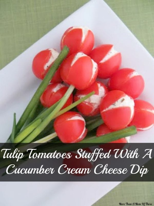 Delicious Dishes Recipe Party - Easter and Spring Recipes - Tulip Tomatoes from More Than A Mom of Three | CookingInStilettos.com